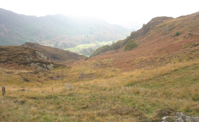 Small tributary valley leading to the Afon-y-cwm valley