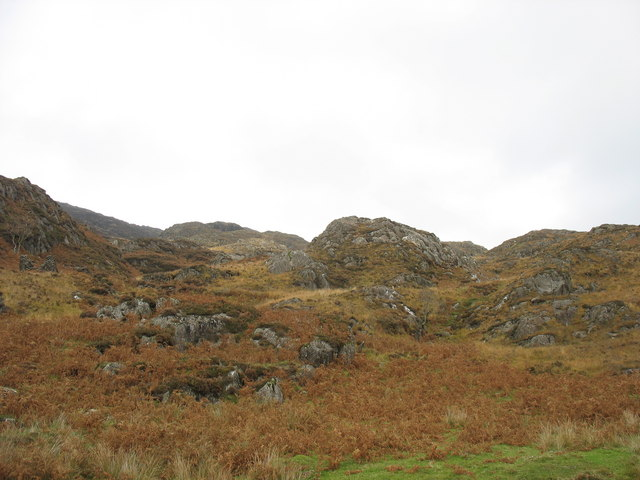 Typical landscape of the southern slope of Yr Aran