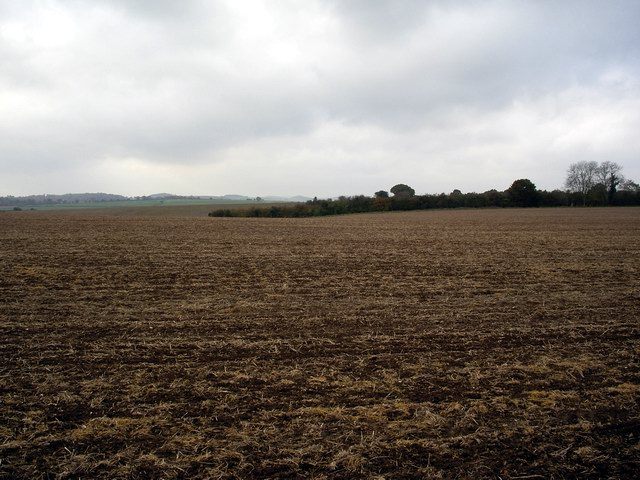 Ploughed field, north of Test Valley