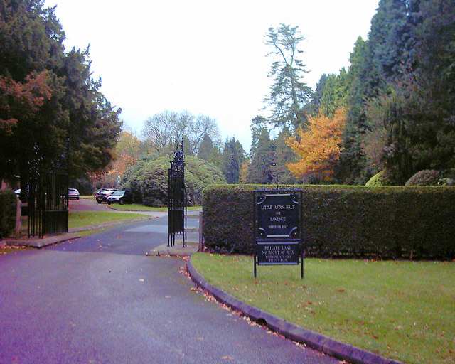 Entrance to Little Aston Hall Park and Lakeside