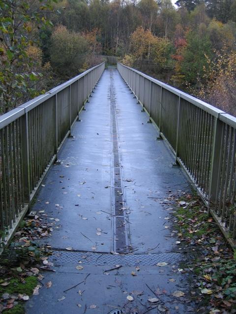 Footbridge over the A55