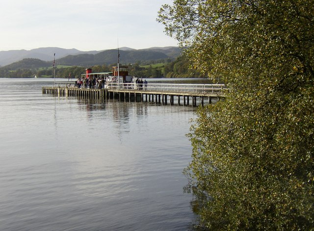 The jetty for the Ullswater Steamer, Soulby township, Dacre CP