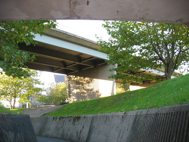 Middle part of the pedestrian underpass linking Stryd Mari and the Bus Station