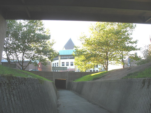 The final section of the pedestrian underpass between Stryd Mari and the Bus Station