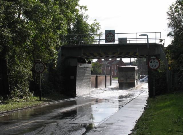 High Street Railway Bridge Flood