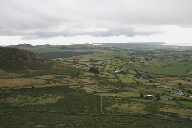 Towards Abersoch from Carn Fadryn