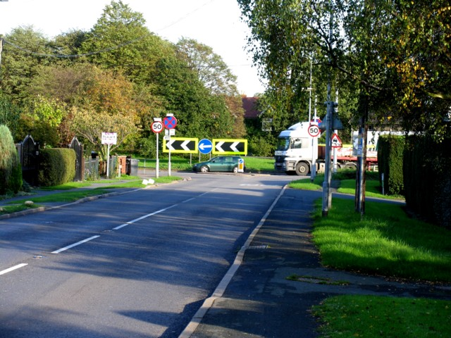 Perry Road/A1 junction Buckden