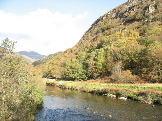 Afon Glaslyn and Craig y Llan