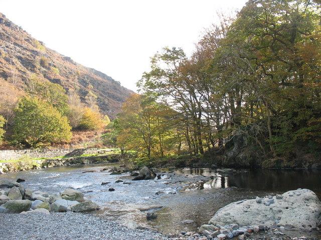 Afon Glaslyn below Bryn y Felin Bridge