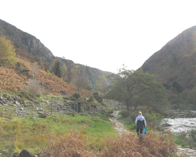 The northern entrance to Bwlch Aberglaslyn.