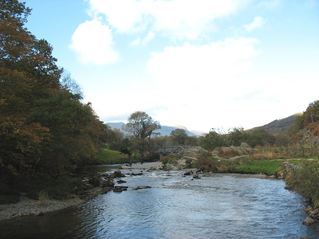 Afon Glaslyn below Coed Bryn y Felin Woods