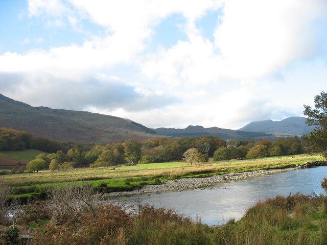 A quiet reach of the Glaslyn below the village of Beddgelert