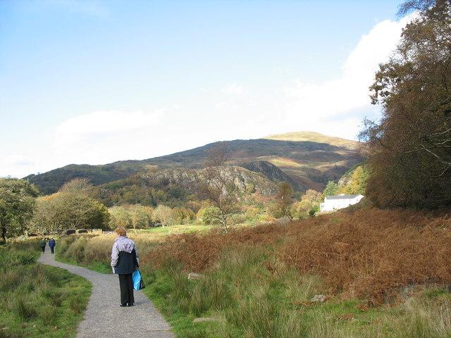 View north towards Bryn Eglwys Hotel