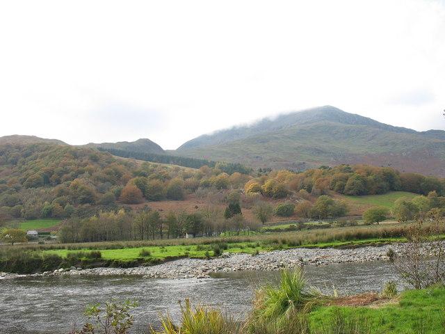 The floodplain of the Glaslyn below Beddgelert