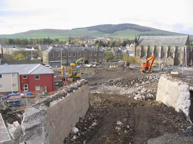 Town centre redevelopment works in Galashiels
