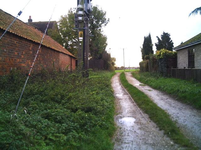 Designated footpath Dyke to Bourne