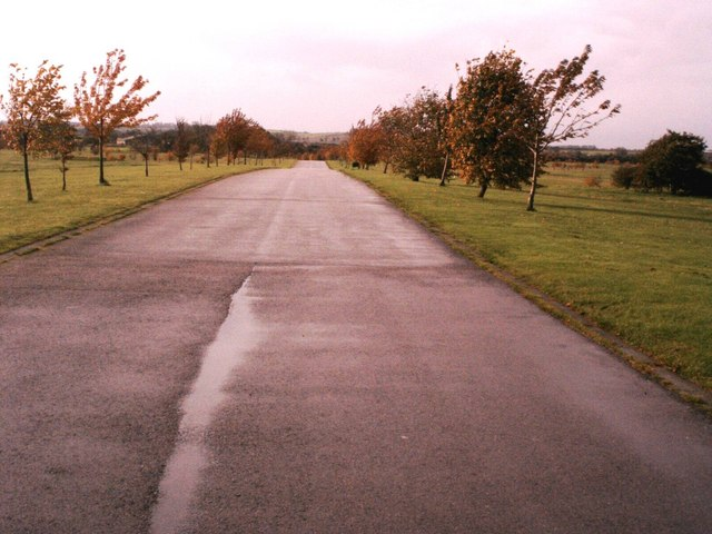 Driveway leading to Heydon Grange