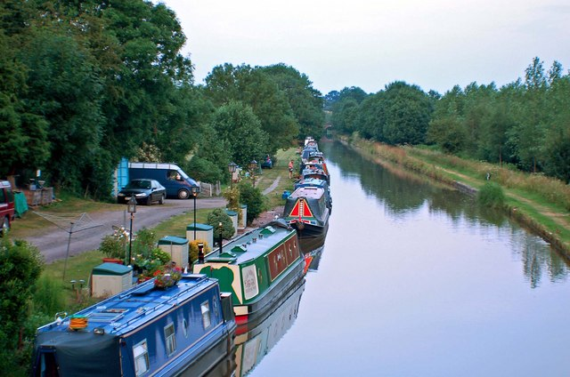 Boats on the canal near the Wharf at Goldstone