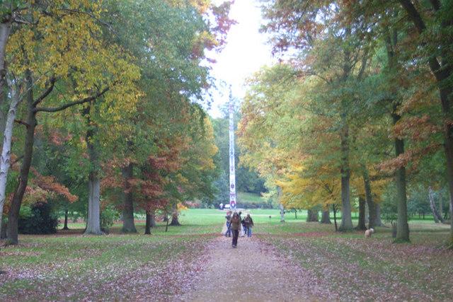 Totem pole, Virginia Water, Surrey