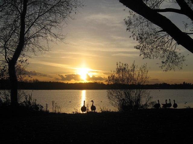 Sunset at Pennington Flash