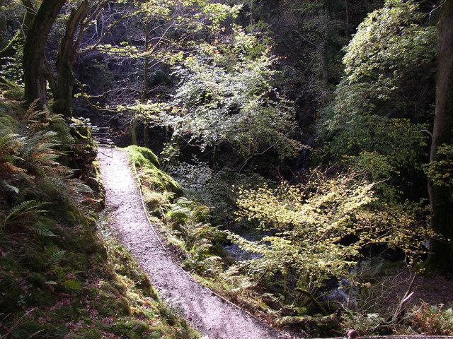 Path near Aira Force, Watermillock township, Matterdale CP