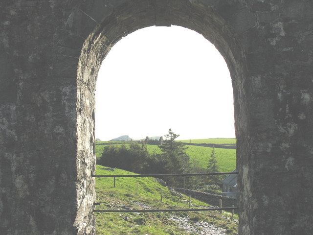 View South through a ground floor window
