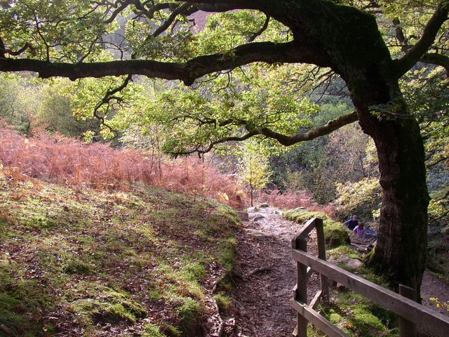 Path to Aira Force up the eastern side of the ravine, Watermillock township, Matterdale CP