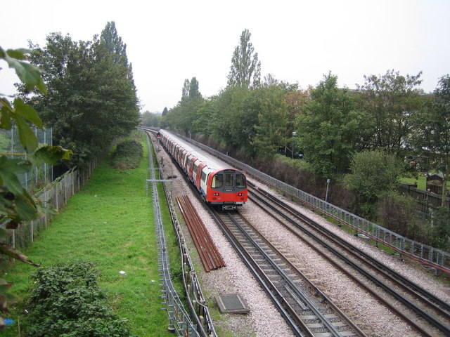 Northern Line railway in Burnt Oak