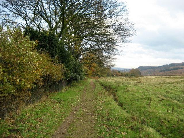 Track below Ilkley Moor