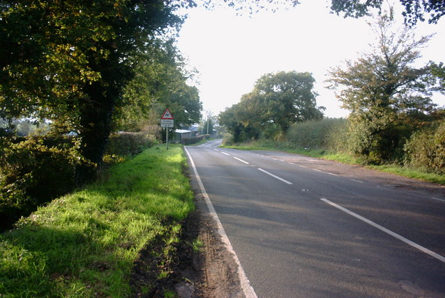 The B5027 to Hilderstone and Uttoxeter