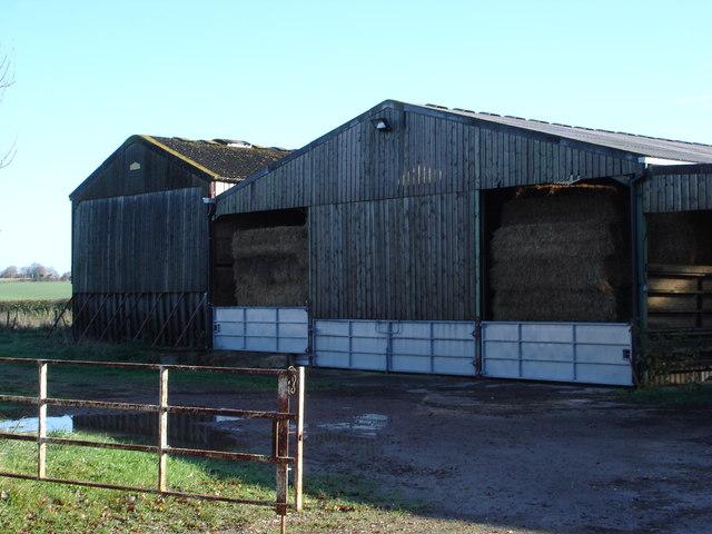 Barn on unidentified farm, also workshops