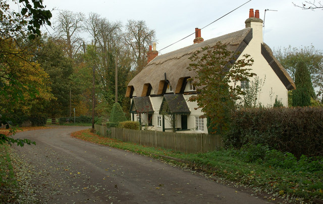Thatched cottages, Calke