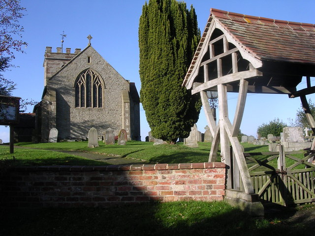 Bayton Church and lychgate