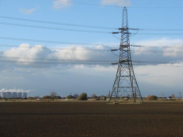 Pylon in field on edge of M62