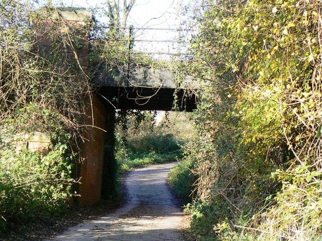 Railway overbridge on the old MSW & JR railway