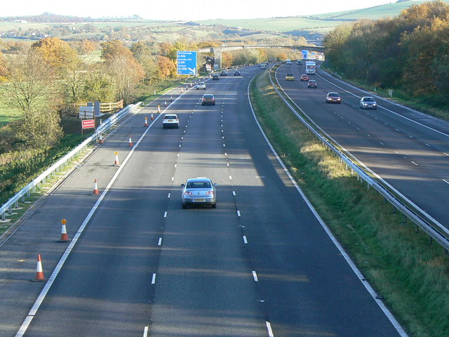 M4 eastbound carriageway towards Junction 15.