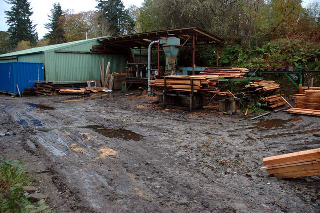 Sawmill at Achterneed