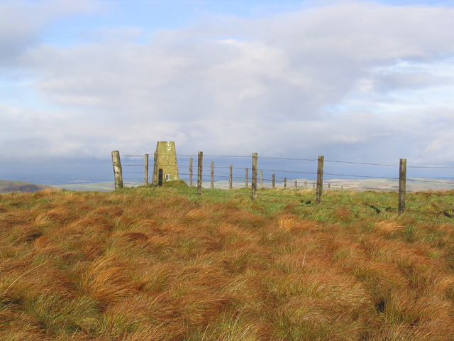 The trig point at Hungry Law