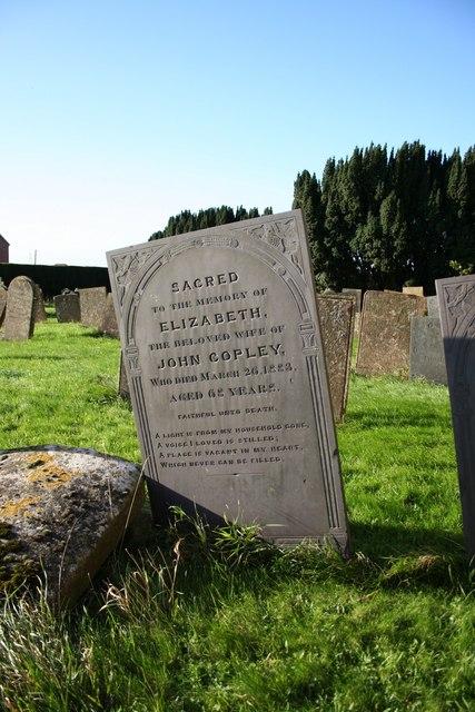 Grave of Elizabeth Copley