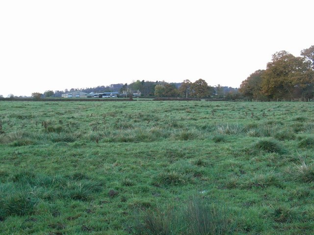 Across fields to Heath Hill Farm