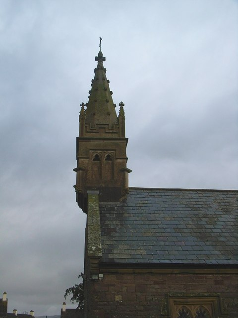 Llanellen Church, spire