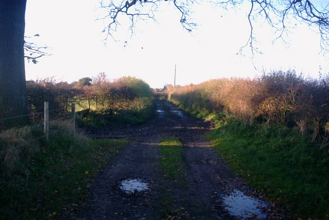 Public footpath near aston, Stone