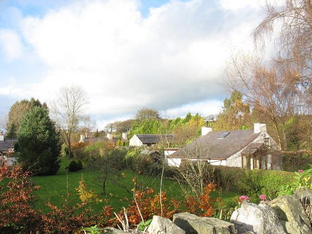 Traditional smallholder cottages at Pontrhythallt