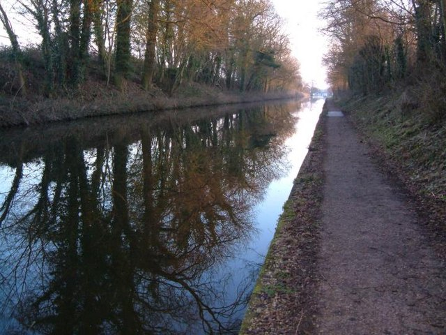Shropshire Canal. Looking towards Norbury Junction