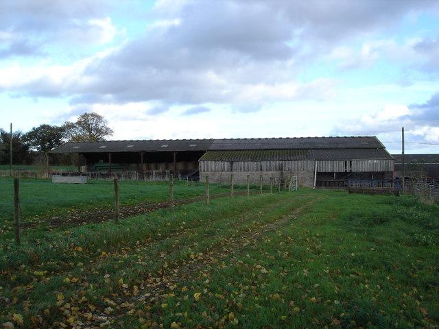 Farm buildings on Upwood Farm