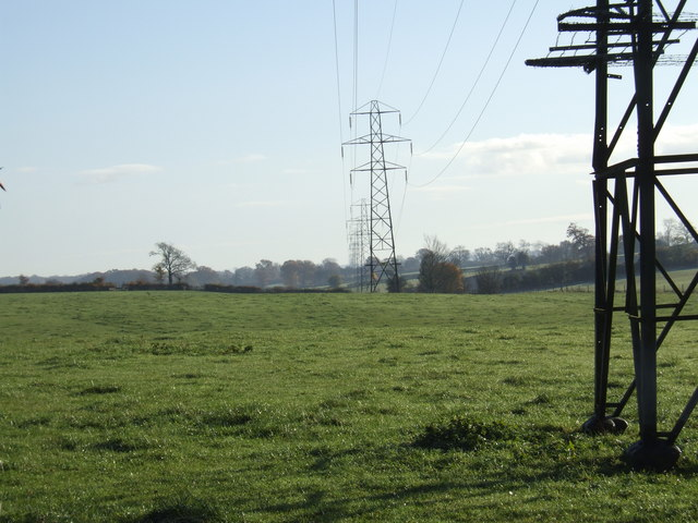 Pylons marching easterly