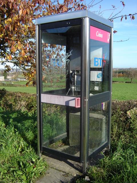 Telephone box in Nercwys