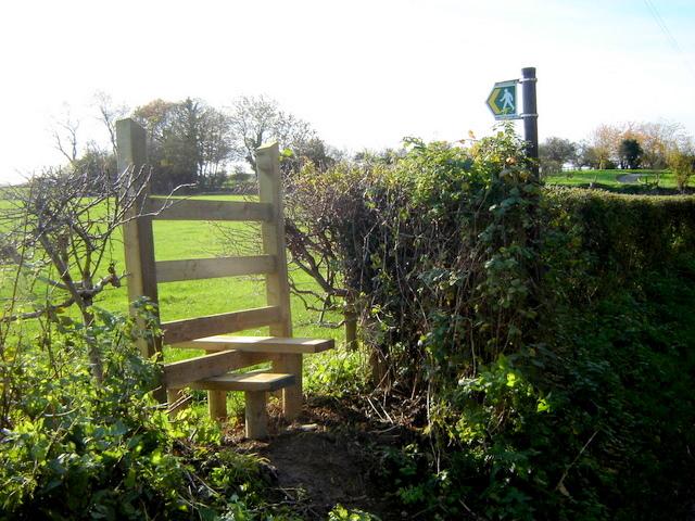 Footpath off Ffordd Llewellyn, Nercwys.