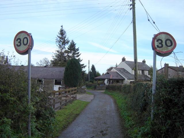 Nercwys village limits