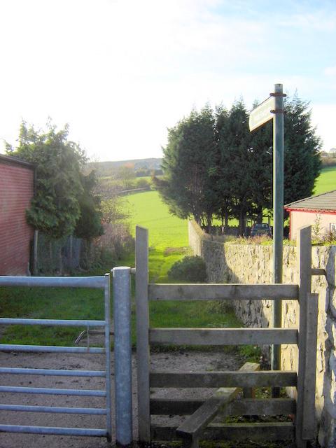 Public Footpath in Nercwys